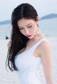 蓝色妖姬于姬妹子海边风情小清新背景图