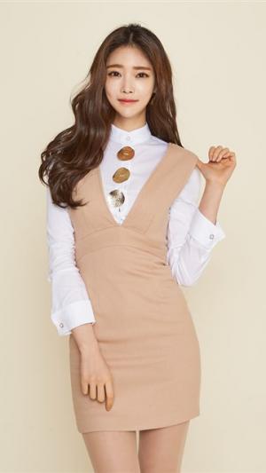 韩国美女ol制服写真安卓壁纸_高清手机壁纸图片大全