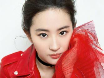 刘亦菲红衣白裙美艳写真第[5]图片