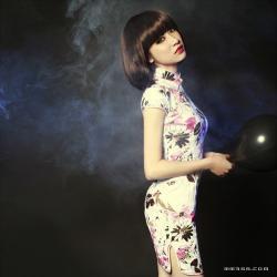 旗袍怀旧风格摄影作品欣赏