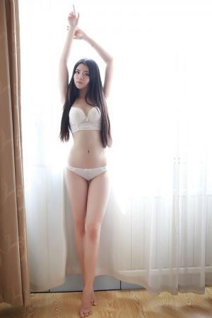 娇羞学妹婧婧白色内衣秀完美身材图片[39]