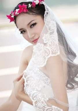 礼服婚纱唯美新娘写真高清壁纸_高清桌面壁纸